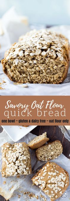 This gluten-free oat flour bread is made with just a few simple ingredients in only one bowl No refined flour oat flour only butter or dairy glutenfree dairyfree breakfast oatmeal healthy recipe healthyrecipe snack via hungryhobby # Gluten Free Oat Bread, Gluten Free Oatmeal, Vegan Bread, Gluten Free Baking, Gluten Free Recipes, Keto Bread, Simple Gluten Free Bread Recipe, Healthy Oat Recipes, Bread Food