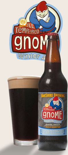 Ill Tempered Gnome Winter Ale by Oakshire Brewing.  Eugene, Oregon.