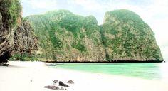 Tentación suprema para los adoradores de paredes. Maya Bay #tailandia #thailand #isla #island #sea #mar #nature #naturaleza #asia
