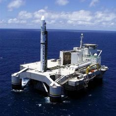 Zenit 3 Sea Launch rocket on Odyssey launch platform.