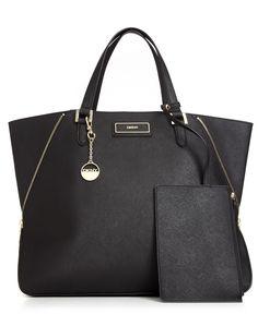 DKNY Handbag, Saffiano Large Zip Tote - Tote Bags - Handbags & Accessories - Macys