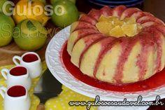 #BomDia! Este Bolo de Laranja com Casca e Sem Glúten, é feito no liquidificador, tem delicioso aroma, a maciez e a calda são incríveis! Ah é #SemGlúten, #SemLactose e #Diet.  #Receita no link => http://www.gulosoesaudavel.com.br/2015/02/27/bolo-laranja-casca-sem-gluten/