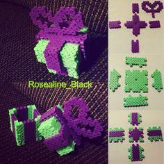 3D Perler bead box pattern