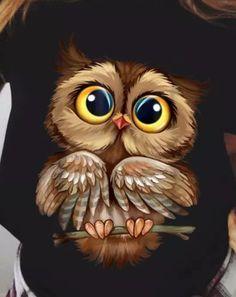 Cute Owl Drawing, Cute Animal Drawings, Cute Drawings, Owl Drawings, Baby Owl Tattoos, Cute Owls Wallpaper, Owl Artwork, Owl Pictures, Beautiful Owl