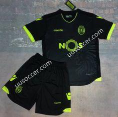 2016-17  Sporting Clube de Portugal Away Black Soccer Uniform