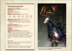 Elk living directly from your nightmares [CR 1]