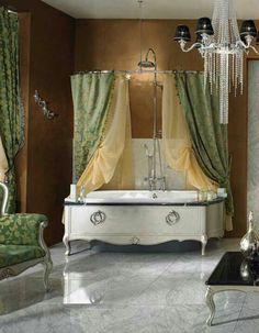 Pretty! Unique tub, too.