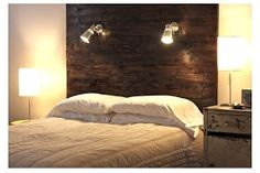 ~ I'M NOT MESSY... I'M JUST BUSY ~: Cabin Bedroom Part 2 - Wood Pallet Headboard