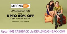 Upto 80% off on fashion @jabong + get upto 10% cashback from dealsncashback  www.dealsncashback.com/merchants/jabong  #fashion #clothing #menswear #womensfashion #dealsncashback #cashbackindia #india #shopping #online #deals #offers #discounts