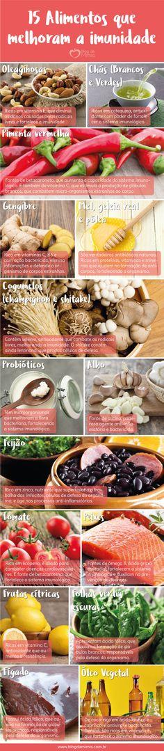 Super disposição: 15 alimentos que melhoram a imunidade - Blog da Mimis…
