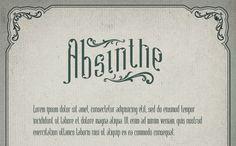 Absinthe free font