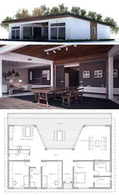Single story home plan, House design, Architecture, passive home plan