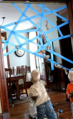 Rainy Day Activity: Sticky Web Game Hands On: As We Grow