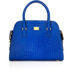 Gia Embossed Croc Satchel ❤ liked on Polyvore
