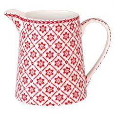 GreenGate Autumn/Winter 2014 Stoneware Jug Alba White Liter H cm French Pattern, Red Cottage, Pattern Books, Danish Design, Tea Set, French Antiques, Warm And Cozy, Color Splash, Stoneware
