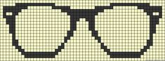Glasses perler bead pattern