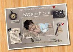Danksagungskarten Geburt Geburtskarte MUSTER 138 - Bild vergrößern