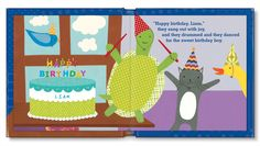 Spread from My Very Happy Birthday book. Available for boys and girls. Happy Birthday Book, Special Birthday, Girl Birthday, Birthday Ideas, Personalized Books For Kids, Little Boy And Girl, Book Girl, Kids Rugs, Board Book