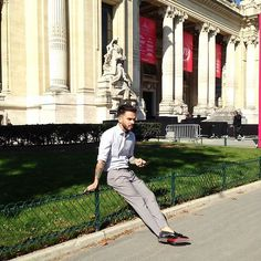 Get this look: http://lb.nu/look/8581241  More looks by Felix: http://lb.nu/user/6079535-Felix  Items in this look:  Reiss Shirt, H&M Trousers, Christian Louboutin Red Soles, Ellus Jeans Deluxe Scarf