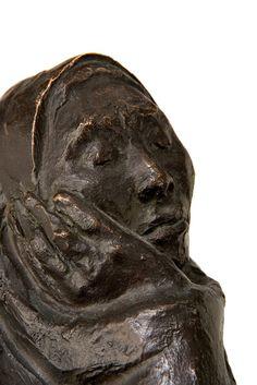 Detail of Mujer Envuelta con Rebozo (1978), Francisco Zuniga