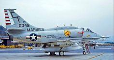 "USMC A-4M Skyhawk of VMA-211 ""Avengers"" Squadron."