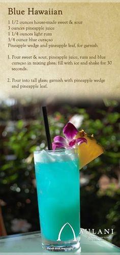 Blue Hawaiian from Disney's Aulani: a great summer drink