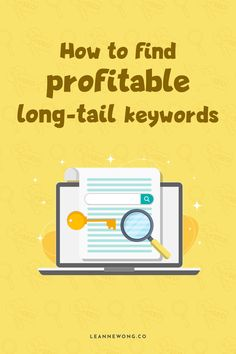 If you're looking to up your keyword strategy and learn how to find easy to rank for keywords that can drive TONS of search traffic to your blog, you're in the right place! In this article, we will learn how to find profitable long-tail keywords in SEO! Business Tips, Online Business, Seo For Beginners, Seo Strategy, Seo Tips, Pinterest Marketing, Thing 1, Content Marketing, About Me Blog