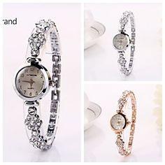 Women's Round Dial Diamante Drops Quartz Wristwatches (Assorted Color)C&d211 | MiniInTheBox