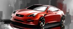 Hyundai Genesis Photos and Specs. Photo: Genesis Hyundai concept and 25 perfect photos of Hyundai Genesis Hyundai Genesis Coupe, Red Sports Car, Dodge Power Wagon, Karting, Car Sketch, Car Images, Old Cars, Luxury Cars, Dream Cars