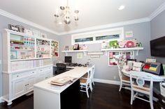 craft room Globus Builder - contemporary - home office - los angeles - Globus Builder Craft Room Design, Room Interior Design, Home Office Design, Office Designs, Design Bedroom, Interior Ideas, Space Crafts, Home Crafts, Craft Space