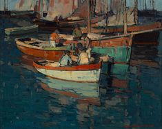 Breton Fishermen, Concarneau, France By Edgar Payne . Truly Art Offers Giclee Unframed Prints on Paper, Canvas Art, and Framed Art in all our Collections. Edgar Payne, American Impressionism, Boat Art, Classic Paintings, Art Plastique, Landscape Paintings, Street Art, Canvas Art, Fine Art