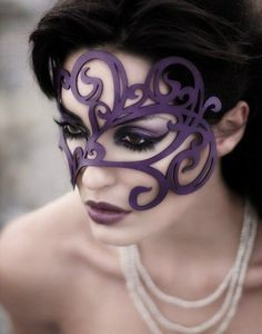 Purple mask love it! saw this in a catalog. made of.vinyl