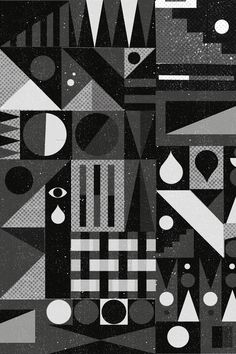 series of work for design for humanity, d&g and various shows. Graphic Poster, Black And White Abstract, Illustration Design, Pattern Illustration, Geometric Shapes Art, Print Patterns, Prints, Textures Patterns, Animation Design