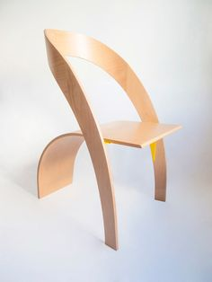 Sculptural Chair Made of Two Curvy Parts - Design Milk - Counterpoise Chair by Kaptura de Aer - Classic Furniture, Unique Furniture, Contemporary Furniture, Furniture Design, Furniture Showroom, Refurbished Furniture, Furniture Online, Furniture Outlet, Upcycled Furniture