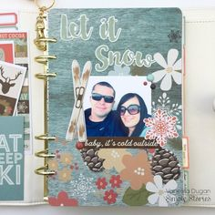 Creative team member Vanessa Dugan has decked out her Ivory Carpe Diem planner with our Winter Wonderland collection