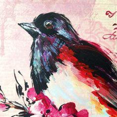"""Bird"", Acrylic/design paper, Fragment."