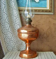 Turkish Copper Oil Lamp by cynthiasattic on Etsy, $150.00