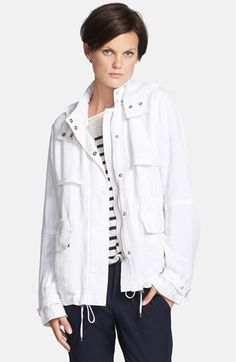 Vince 'Luxe' Short Anorak available at #Nordstrom($495-) CAbi spring '14 : Fairway Jacket $118 w/Sailing tee $68 & newport pant $98 www..cabionline.com