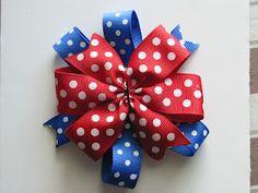 DIY Pinwheel Bow #diy #bow