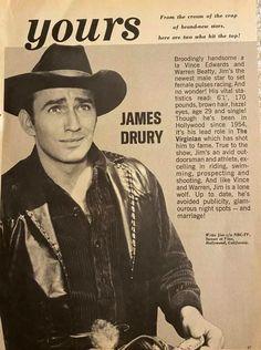 Vince Edwards, Doug Mcclure, James Drury, Warren Beatty, Actor James, The Virginian, Old Shows, New Star, Good Old