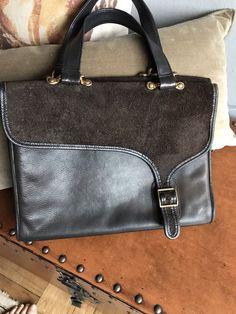 Coach Vintage Bonnie Cashin Pre-Creed Double Sided Leather Satchel Briefcase  HTF  COACHBonnieCashin   cc43679aa6