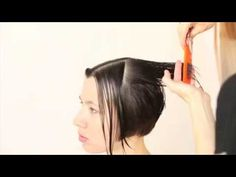 NN Academy a step-by-step bob haircut - YouTube