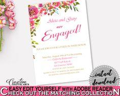 Engagement Invitation Bridal Shower Engagement Invitation Spring Flowers Bridal Shower Engagement Invitation Bridal Shower Spring UY5IG #bridalshower #bride-to-be #bridetobe