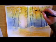 ▶ Autumn Forest - watercolor painting process - YouTube