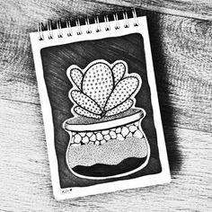 8 - Eu gosto desse objeto: adoro meus vasinhos 🌷    #illustration #instart #nankin #fineline #desenho #desenhando #draw  #drawing #onedrawingaday #onesketchaday #sketch #sketchday #arte #art #illustration #girlsartistgang #agostodoartista #cactos #cacti #cactus #cactusdrawing