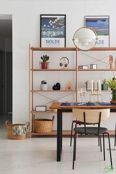living room shelves and box شلف و باکس دکوری در دکوراسیون اتاق نشیمن مدرن