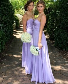 Lavender bridesmaid dresses! I love these but in tiffany blue! :)