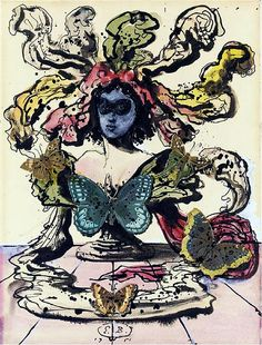 Berman, Eugene (1899-1972) - 1951 Portrait of Woman with Butterflies (Christie's New York, 2004)