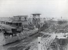 Swan Street rail crossing 1874, Richmond.