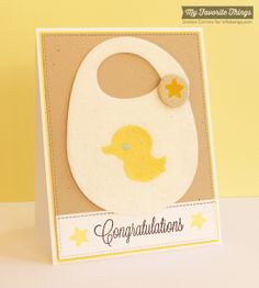 Beautiful Baby, Baby's Bib Die-namics, Blueprints 14 Die-namics, Oh Baby Die-namics - Debbie Carriere #mftstamps